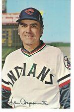 Ken Aspromonte Cleveland Indians Team Issued Post Card Authentic Autograph COA
