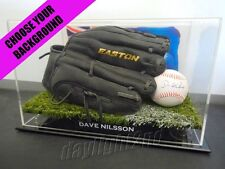 ✺Signed✺ DAVE NILSSON Baseball PROOF COA Milwaukee Brewers MLB