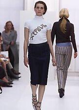 Burberry Prorsum Runaway navy high-waist pencil skirt I 40 UK 8 US 6