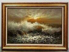 """Alfred Manessier Original Rare Early Oil Painting Sea FRAMED 44 x 32"""";  36 x 24"""""""