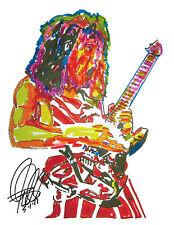 Eddie Van Halen, Guitar Player, Guitarist, Edward Van Halen 8.5x11 PRINT w/COA2