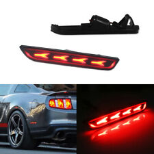 2pc Smoked Lens Red LED Lamps Rear Side Marker Lights For 2010-2014 Ford Mustang