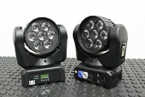 LOT OF 2 Martin Professional RUSH MH 2 Wash LED Moving Head Fixtures FREE S&H
