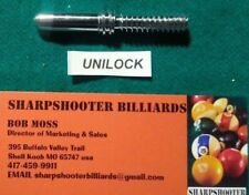 UNI-LOCK Maintenance arbor for drill or lathe pool cue tip clean retaper rewrap