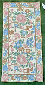 Crewel Floral Area Rug (Vintage)