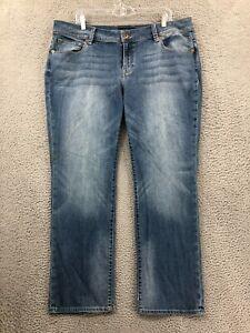Lucky Brand Jeans 18W Woman Georgia Straight Leg Blue Denim Mid Rise Plus