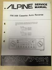 Alpine Service Manual for the 7120 7121 Cassette Tape Player Car Stereo Revised