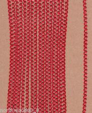 METALLIC RED MINI SCROLL FLEUR XSMALL 1/16 BORDER DRESDEN GERMAN PAPER FOIL TRIM