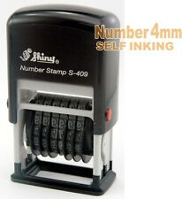 4 mm 6 band Number Self Ink Pad Stamp Printer 0.4 cm red black blue s409 SHINY