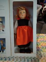 "Goebel M I Hummel Doll On Holiday Handmade porcelain  15"" tall 1984"