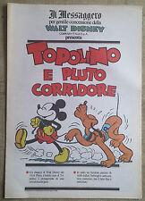 Topolino e pluto corridore - Fumetto Il Messaggero Walt Disney