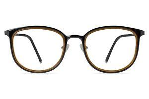 Aspen Dark Brown Glasses with Caramel Crystal Lining 48-21-145