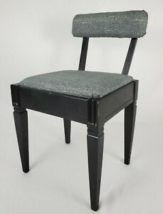Vintage Sewing Chair Stool With Storage Seat Walnut Danish Mid-Century Modern