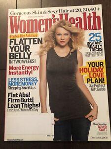 Taylor Swift Cover WOMEN'S HEALTH MAGAZINE December 2008 NEW