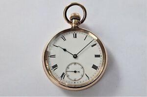 1905 GOLD FILLED WALTHAM TRAVELER SWISS LEVER POCKET WATCH IN WORKING ORDER