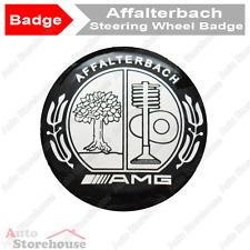 Mercedes Affalterbach AMG Steering Wheel Badge Emblem [Black & Chrome]