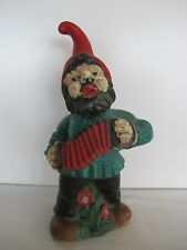 Vintage Zeho 1977 Garden Gnome Singing & Playing Accordion ~ West Germany