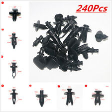 240Pcs Plastic Fastener Car Bumper Clip Retainer Rivet Door Panel Fender