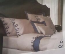 Yves Delorme ITALICS BALTIC EMBROIDERED Duvet Cover Set SUPERKING 260x240CMS