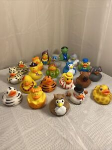 Rubber Ducky Mixed LOT OF 21 Rubber Ducks Unique Variety (Pan-F5)