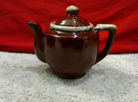Small Stoneware/Glazed Ceramic/Decorative Tea/Coffee Pot-Brown/Tan