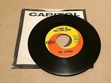 "Original THE BEATLES ""I Want To Hold Your Hand"" 45 Record Capitol 5112 NM Condit"