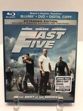 Fast Five Blu-ray/DVD, 2011, 2-Disc Set, Rated/Unrated Includes Digital Copy