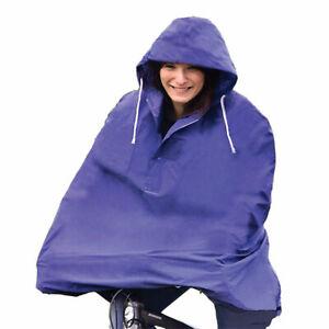 Waterproof Cycling Rain Cape / Poncho - One Size - Blue