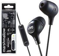 JVC HA-FX38M-B BLACK Marshmallow In-Ear headphones with Remote & Mic /Brand New