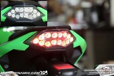 13-17 Kawasaki Ninja 300 INTEGRATED Turn Signal LED Tail Light CLEAR LENS