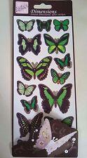 Anita's Green 3D Ali di Farfalla foglio adesivo carta per SCRAPBOOK Home Decor