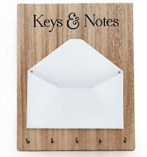 Hanging Wooden Style Letter Storage Key Hooks Key And Letter Holder