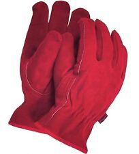 TOWN & COUNTRY Veloursleder / Wildleder rot Gartenhandschuhe Premium Qualität!
