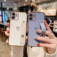For iPhone 12 11 Pro Max XS XR 7 8 Plus Cute Love Heart Silicone Soft Case Cover