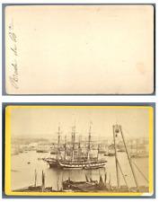 France, Bordeaux Le port  CDV vintage albumen carte de visite,  Tirage albumin