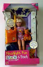 Stacie and Pooh Flashlight  Fun NRFB Vintage 1997 Mattel Barbie Little Sister.