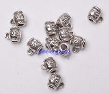 20pcs Tibetan Silver Pendant Charm Bail Connectors 8x10mm Jewelry Findings J3049