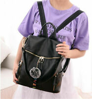 Fashion Womens PU Leather Shoulder Bag Backpack Girl School Travel Purse Bookbag