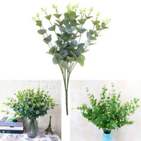 Artificial Fake Leaf Eucalyptus Green Plant Leaves Flower Home Decor 16 He Tg