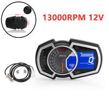 12V 13000RPM Motorcycle HD LCD Digital Speedometer Odometer Backlight Meter