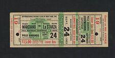 RARE 1953 World Championship ROCKY MARCIANO vs ROLAND LASTARZA boxing ticket