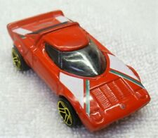2001 HOT WHEELS-1/64 Red Diecast-Lancia Stratos Car-Malaysia VG+