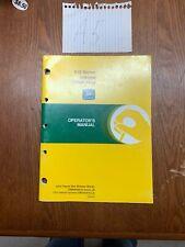 John Deere 610 Series Integral Chisel Plow Owners Operators Manual Nos