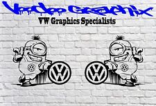 "Volkswagen Extra Large 17"" logo Stickers X2 Transporter T6 T5 T4 Campervan"