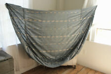 Antique Ikat fabric French daybed day bed cover Ikat Indigo faded blue cotton