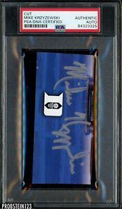 DUKE Men's Basketball Coach MIKE KRZYZEWSKI Signed/Auto Cut PSA/DNA Certified
