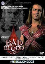 WWE Bad Blood 2004 + Rebellion 2002 Orig 2 DVDs WWF Wrestling