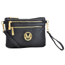 New Womens Handbag Monogram Logo Faux Leather Messenger Bags Crossbody Bag Purse