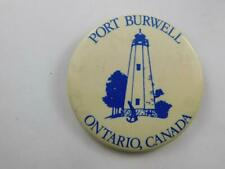 PORT BURWELL LIGHTHOUSE LAKE ERIEVINTAGE BUTTON ONTARIO CANADA SOUVENIR PIN