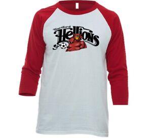 Hartford Hellions MISL Soccer Tee Shirt T-shirt 3/4 Sleeve